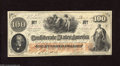 Confederate Notes:1862 Issues, T41 $100 1862. This Scroll 2 variety is printed on CSA scriptwatermarked paper. The back carries an issued stamp by Confede...