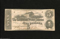 Confederate Notes:1862 Issues, T53 $5 1862. This note has snappy paper and a colorful back, buthas succumbed to the pinhole creature many times. Fine....