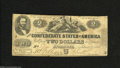 Confederate Notes:1862 Issues, T54 $2 1862. This First Series note has sustained much wear, butremains mostly intact with several pinholes. Good-Very Go...