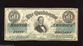 Confederate Notes:1863 Issues, T57 $50 1863. Here is a problem-free example. Very Fine+....