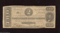 Confederate Notes:1863 Issues, T61 $2 1863. The CSA Deuce is a popular issue with this note offthe 2nd Series having a tape mark on back at upper left an...