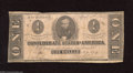 Confederate Notes:1863 Issues, T62 $1 1863. Federal forces captured and imprisoned ConfederateSenator Clay at Fortress Monroe. Very Good....