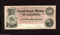 Confederate Notes:1864 Issues, T64 $500 1864. This is an example of the dark red tint variety that carries serial number 759. A couple of faint vertical fo...