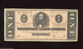 Confederate Notes:1864 Issues, T71 $1 1864. This CSA Ace has a couple folds and some pinholes. Extremely Fine....