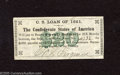 Confederate Notes:Group Lots, $20 Confederate Bond Coupon For 1861 $500 Bond. Extremely Fine....