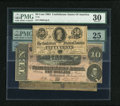 Confederate Notes:1862 Issues, T43 $2 1862.. T68 $10 1864.. T72 50¢ 1864.. ... (Total: 3 notes)