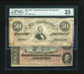 Confederate Notes:1864 Issues, T66 $50 1864. and a T67 $20 1864.. ... (Total: 2 notes)