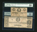 Confederate Notes:1863 Issues, T61 $2 1863.. and a T63 50¢ 1863. ... (Total: 2 notes)