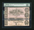 Confederate Notes:1862 Issues, Two 1862 CSA issues:. ... (Total: 2 notes)