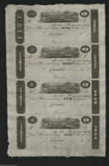 Obsoletes By State:Ohio, Cincinnati, OH- Unknown Issuer $5-$3-$2-$1 18__ Uncut Sheet of PostNotes These notes can be dated in the 1817-25 range due...
