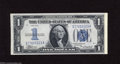 Error Notes:Inverted Reverses, Fr. 1606 $1 1934 Silver Certificate. Crisp Uncirculated. Were itnot for repairs to either side of this note for margin pro...