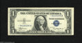 Error Notes:Skewed Reverse Printing, Fr. 1608* $1 1935A Silver Certificate Star. Fine-Very Fine. Thisstar issue features a skewed reverse print that shows a po...
