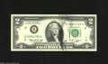 Error Notes:Ink Smears, Fr. 1935-B $2 1976 Federal Reserve Note. Gem Crisp Uncirculated. Asubstantial black ink smear is found on this Two. Errors...