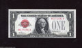 Small Size:Legal Tender Notes, Fr. 1500 $1 1928 Legal Tender Note. Crisp Uncirculated. This Red Seal Ace was a special issue for use in Puerto Rico during...
