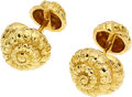 Estate Jewelry:Cufflinks, Gold Cuff Links, David Webb. ...