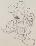 Animation Art:Production Drawing, Mickey's Amateurs Mickey Mouse Animation Drawing (Walt Disney, 1937). ...