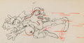 Animation Art:Production Drawing, Moose Hunters Goofy and Donald Duck Animation Drawing (WaltDisney, 1937). ...