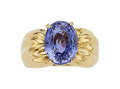 Estate Jewelry:Rings, Violet Sapphire, Gold Ring, Carvin French . ...