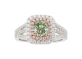 Estate Jewelry:Rings, Fancy Colored Diamond, Colored Diamond, Diamond, Gold Ring . ...