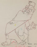 Animation Art:Production Drawing, Pinocchio Foulfellow Animation Drawing (Walt Disney,1940)....