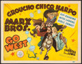 """Movie Posters:Comedy, Go West (MGM, 1940). Trimmed Title Lobby Card (11"""" X 14"""") AlHirschfeld Artwork. Comedy.. ..."""