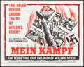 "Movie Posters:Documentary, Mein Kampf (Columbia, 1960). Half Sheet (22"" X 28""). Documentary.. ..."