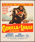 "Movie Posters:Thriller, Gorilla at Large (20th Century Fox, 1954). Trimmed Window Card (14""X 17""). Thriller.. ..."