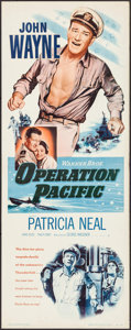 "Movie Posters:War, Operation Pacific & Other Lot (Warner Brothers, 1951). Insert(14"" X 36"") & Trimmed Window Card (14"" X 17""). War.. ...(Total: 2 Items)"