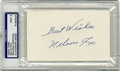 Autographs:Index Cards, Nellie Fox Signed Index Card PSA 9 Mint. The Hall of Fame second baseman played most of his career with the Chicago White S...
