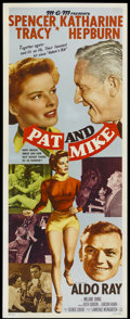 """Movie Posters:Comedy, Pat and Mike (MGM, 1952). Insert (14"""" X 36""""). Comedy...."""