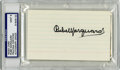 "Autographs:Index Cards, Rube Marquard Signed Index Cards PSA/DNA Mint 9 Lot of 4. Richard William ""Rube"" Marquard, a left-handed pitcher, garnered ..."