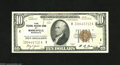 Fr. 1860-I $10 1929 Federal Reserve Bank Note. Extremely Fine. This Minneapolis issue has the second lowest printing for...