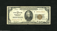 Fr. 1870-I $20 1929 Federal Reserve Bank Note. Fine-Very Fine. This snappy note off Minneapolis has sound edges