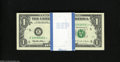 Fr. 1922-E* $1 1995 Federal Reserve Star Notes. 100 Consecutive Examples. Choice-Gem CU. Here is an original bank pack o...