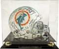 Football Collectibles:Helmets, 1972 Miami Dolphins Perfect Season Team Signed Helmet. The perfect season of the 1972 Miami Dolphins is the stuff that lege...