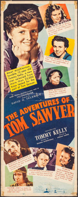 "The Adventures of Tom Sawyer (United Artists, 1938). Insert (14"" X 36""). Adventure"