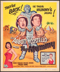 "Abbott and Costello Meet the Mummy (Universal International, 1955). Trimmed Window Card (14"" X 17""). Comedy..."