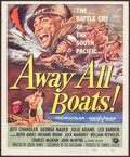 "Movie Posters:War, Away All Boats & Other Lot (Universal International, 1956).Trimmed Window Cards (2) (14"" X 17"") Reynold Brown Artwork. War....(Total: 2 Items)"