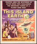 """Movie Posters:Science Fiction, This Island Earth (Universal International, 1955). Trimmed WindowCard (14"""" X 17"""") Reynold Brown Artwork. Science Fiction.. ..."""