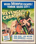 """Movie Posters:Horror, Revenge of the Creature (Universal International, 1955). Trimmed Window Card (14"""" X 17""""). Horror.. ..."""