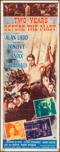 "Movie Posters:Adventure, Two Years Before the Mast (Paramount, 1946). Folded, Fine+. Insert(14"" X 36""). Adventure.. ..."