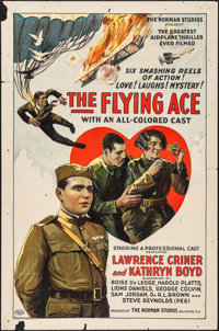 """The Flying Ace (Norman, 1926). One Sheet (27"""" X 41""""). Black Films"""