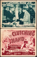 """Movie Posters:Serial, The Clutching Hand (Stage and Screen Productions, 1936). Title Lobby Card & Lobby Card (11"""" X 14"""") Chapters 12 and 10. Seria... (Total: 2 Items)"""