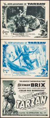 "The New Adventures of Tarzan (Burroughs-Tarzan-Enterprise, 1935). Title Lobby Card & Lobby Cards (2) (11"" X 14&..."