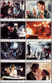 """Raiders of the Lost Ark & Other Lot (Paramount, 1981). Mini Lobby Card Set of 8, Mini Lobby Card (8"""" X 10""""..."""