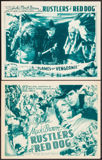 """Rustlers of Red Dog (Universal, 1935). Title Lobby Card & Lobby Card (11"""" X 14"""") Chapter 6. Serial. ... (T..."""
