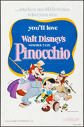 "Movie Posters:Animation, Pinocchio (Buena Vista, R-1978). One Sheet (27"" X 41""). Animation.. ..."