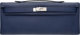 """Hermes Blue Sapphir Epsom Leather Kelly Cut Clutch Bag with Palladium Hardware R Square, 2014 Condition: 3 12"""" Widt..."""