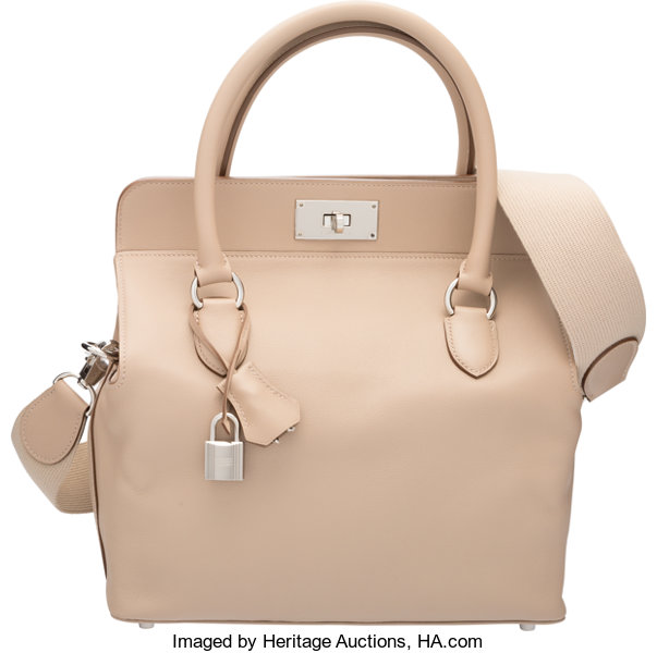 6feb532f878a Hermes 26cm Argile Swift Leather Toolbox Bag with