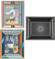 """Hermes Set of Three Trays Condition:1 Ash Tray: 8"""" Length x 6"""" Width x 1.5"""" Height Change Trays:8.5""""..."""